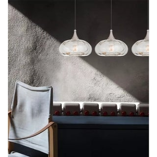 Livex Lighting Brushed Nickel Art Glass 1-light Mini Pendant