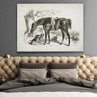 Wexford Home 'Equine Sketch IV' Gallery-wrapped Canvas