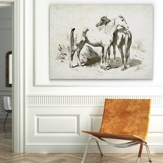 Wexford Home 'Equine Plate IV' Gallery-wrapped Canvas Wall Art