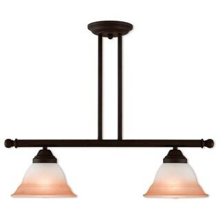 Livex Lighting Wynnewood Bronze 2-light Linear Chandelier