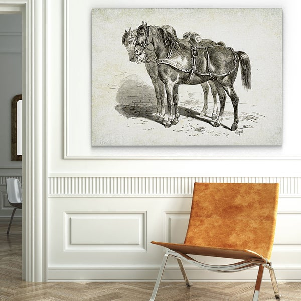 Wexford Home 'Equine Plate II' Gallery-wrapped Canvas Wall Art