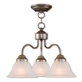 Livex Lighting Wynnewood Brushed Silver 3-light Semi-flush Dinette Chandelier