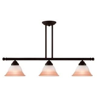 Livex Lighting Wynnewood Bronze Steel 3-light Linear Chandelier