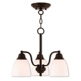 Livex Lighting Somerville Bronze 3-light Semi-flush Dinette Chandelier