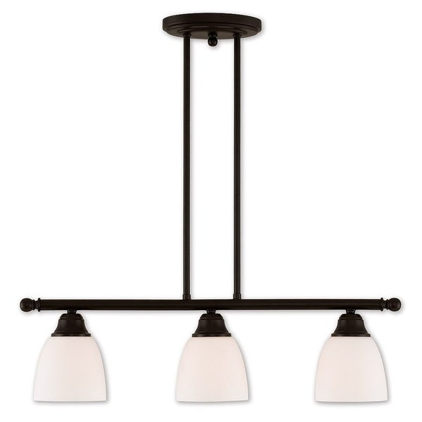 Livex Lighting Somerville 3 Light Bronze-finish Steel Linear Chandelier