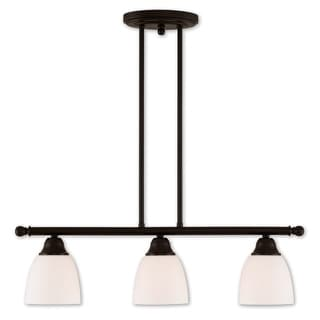 Livex Lighting Somerville 3 Light Bronze-finish Steel Linear Chandelier