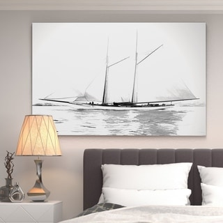 'Sailing Yacht I' Gallery-wrapped Canvas Art
