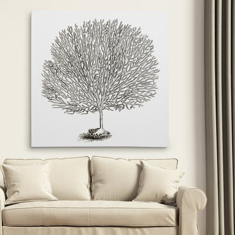 Wexford Home 'Coral Sketch Grey I' Gallery-wrapped Canvas Wall Art