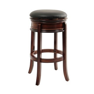 Shop Mossoro Swivel Leather Counter Stool On Sale Free