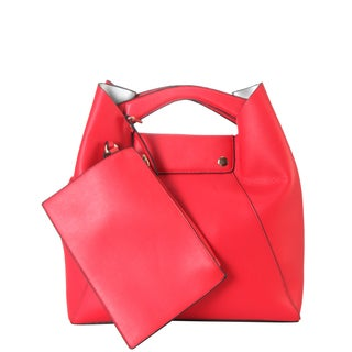 Diophy Top Handle Tote Bag with Small Matching Wristlet