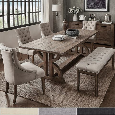 Paloma Reclaimed Wood 6-Piece Dining Set by iNSPIRE Q Artisan