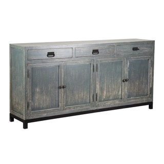 Morton Reclaimed Wood 76-inch Teal Sideboard by Kosas Home