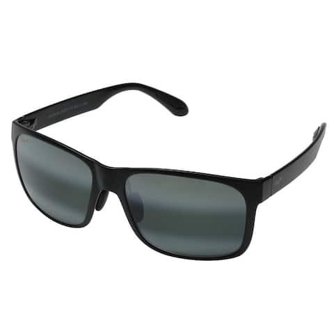 Maui Jim Red Sands Unisex 432-2M Polarized Matte Black/Neutral Grey Sunglasses