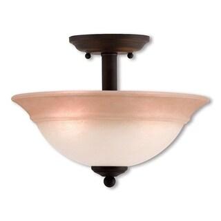 Livex Lighting Wynnewood Bronze 2-light Ceiling Mount
