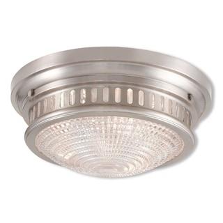 Livex Lighting Berwick, 3 Light, Brushed Nickel Ceiling Mount