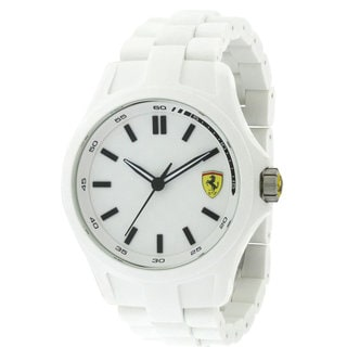 Ferrari Scuderia Pit Crew White Silicone and Stainless Steel Men's Watch