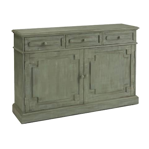 Eliza Credenza Distressed Brown, Grey Accent Cabinet
