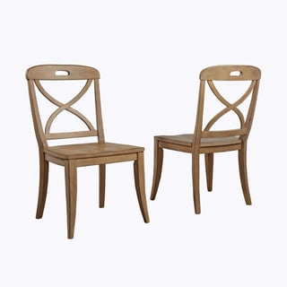 Millbrook X-Back Dining Chair by Panama Jack (Set of 2) (Brown - Wood Finish - Side Chairs)