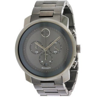 Movado Bold Stainless Steel Chronograph Men's Watch 3600277