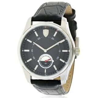 Ferrari Scuderia GBT-C 0830231Men's Watch with Black Leather Strap