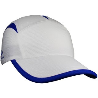 Headsweats Go Hat Unisex White and Royal Blue Athletic Hat