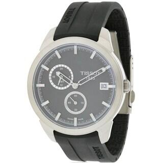 Tissot Black Rubber and Titanium GMT Anthracite Men's Watch