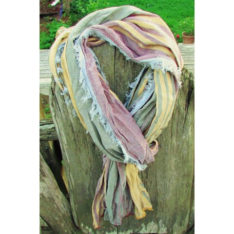 Red Pomegranate Ultra soft Turkish Cotton Blend All-Season Fringed Scarf