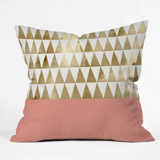 Georgiana Paraschiv Gold Triangles Throw Pillow