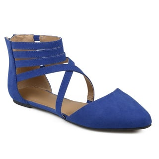 Journee Collection Women's 'Marlee' Wrap Strap Faux Suede Flats (More options available)