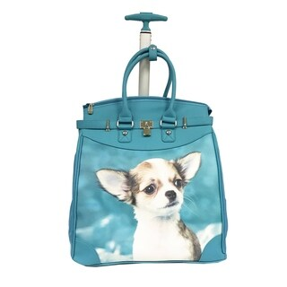 Rollies Chihuahua Rolling Blue 14-inch Laptop Travel Tote