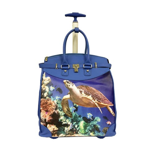 Rollies Sea Turtle Rolling 14-inch Laptop Travel Tote