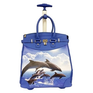Rollies Dolphins Jumping Rolling 14-inch Laptop Travel Tote