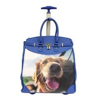 Rollies Selfie Puppy Rolling 14-inch Laptop Travel Tote