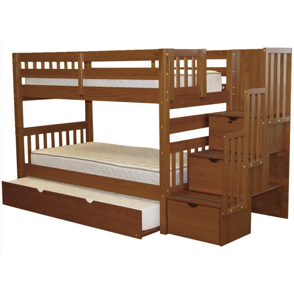 Taylor & Olive Trillium Espresso Twin-over-Twin Bunk Bed with Trundle