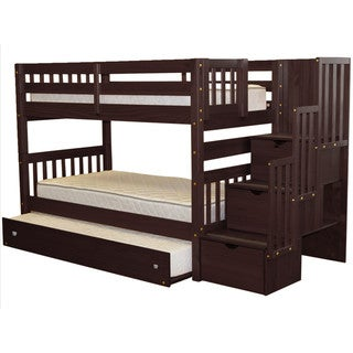 Taylor & Olive Trillium Cappuccino Twin-over-Twin Bunk Bed with Trundle