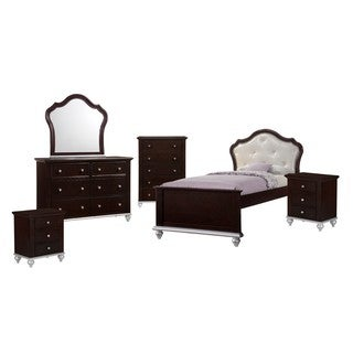 Picket House Furnishings Alli Twin Platform 6PC Bedroom Set w/ Storage Trundle