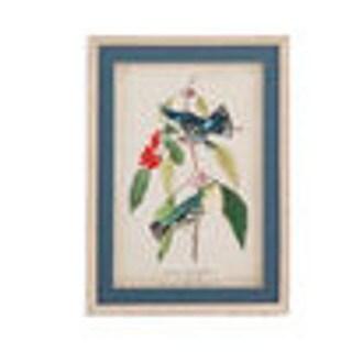 Bassett Mirror Company 'Cerulean Wood Warbler' Framed Art