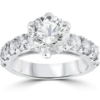 14k White Gold 4 1/2 ct TDW Diamond Clarity Enhanced Engagement Ring (I-J,I2-I3)