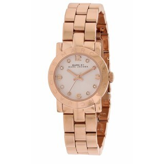 Marc by Marc Jacobs Women's Amy Mini Rose Gold-Tone Crystal Watch