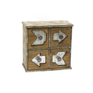 Jeco Chevrons 4 Drawer Storage Chest