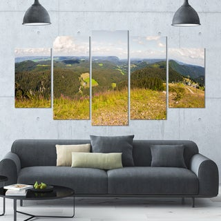 Designart 'Black Forest Germany Panorama' Landscape Wall Artwork - 60x32 5 Panels
