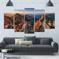 Designart Majestic Sunset In Fall Mountains Landscape Wall Artwork