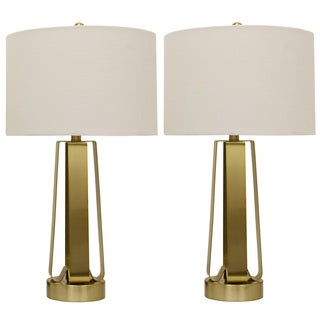 Decor Therapy Metal Open Work Table Lamps (Set of 2)