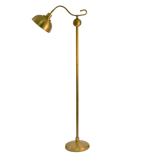 93 antique brass floor lamp