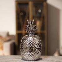 UTC44210: Ceramic 40 oz. Pineapple Canister LG Polished Chrome Finish Silver