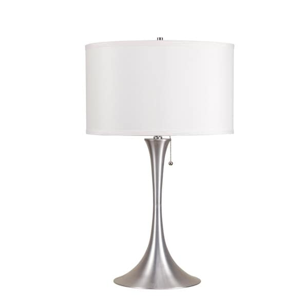 Acme Furniture Brushed Silver Table Lamp by Acme