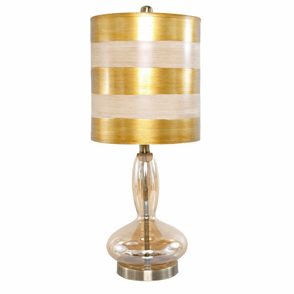 River of Goods Golden Handblown Curved Glass Base 24.5-inch H Art Deco Table Lamp