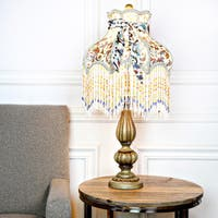 Victorian Floral and Fringe Rustic 26.5-inch Table Lamp