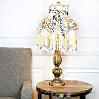 Shabby chic table lamps for less overstock victorian floral and fringe rustic 265 inch table lamp aloadofball Choice Image