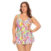 Dippin' Daisy's Women's Multicolored Nylon and Spandex Plaid Plus-size One-piece Swimdress